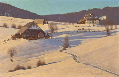 Hermann Dischler Winter in the Black Forest