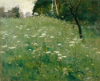 Franz Xaver Gräßel Meadow with Flowers