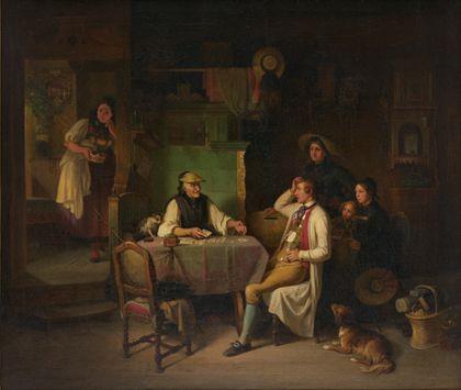Johann Baptist Kirner La cartomancienne