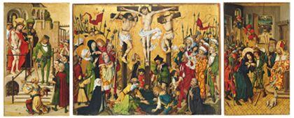 Flügelaltar mit Darstellungen der Passion Christi.