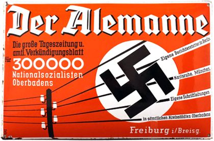Enamel sign  »The Alemanne«