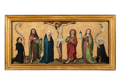 Oberrheinisch The Crucifixion with Saints and Donors