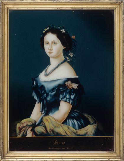 Hinterglasportrait der Großherzogin Louise von Baden, nach einem Gemälde von Franz Xaver Winterhalder