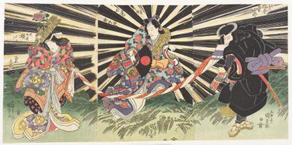 Utagawa Kunisada Magical scene from the Genpei war
