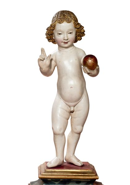 Südniederländisch Standing Christ Child (Salvator Mundi)