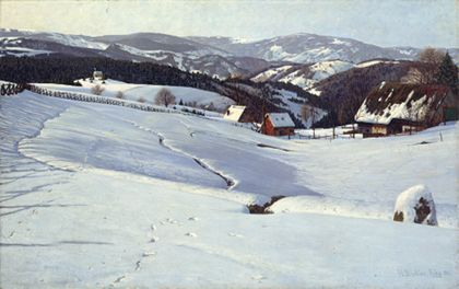 Hermann Dischler Winter Morning in the Black Forest