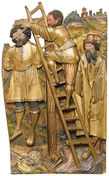 Oberschwäbisch Legend of St James the Greater: Two scenes from the miracle of the hanged pilgrim