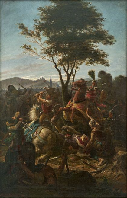 "Fritz Geiges Battle of the ""Bischofslinde"" (bishop's lime)"