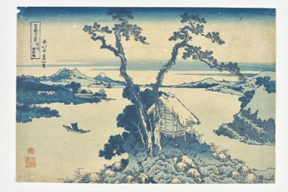 Katsushika Hokusai Lake Suwa in Shinshū Province from the series »The Thirty-Six Views of Mount Fuji«