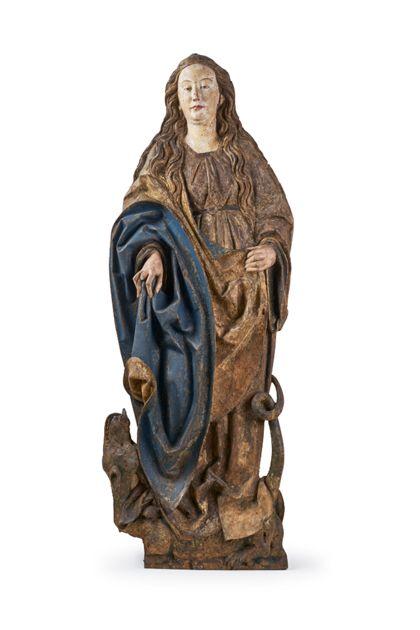 Reliefdarstellung der heiligen Margarete.