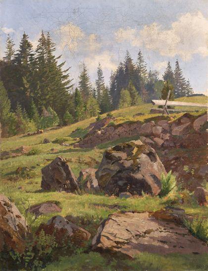 Max Wilhelm Roman Paysage de la Forêt-Noire