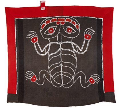 Blanket <Textiles> Ceremonial »button blanket«