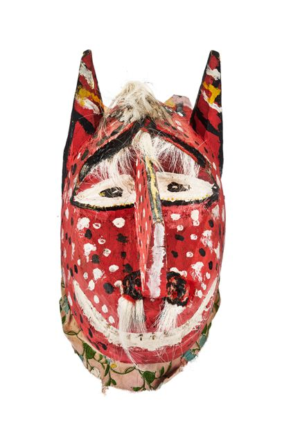 Masque Casque-Masque représentant un lionne
