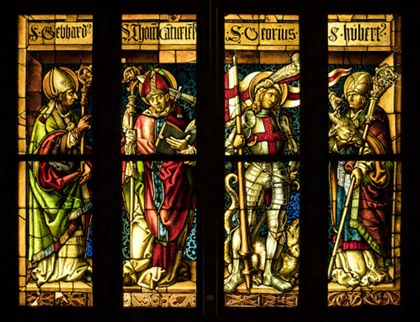 Hans Gitschmann Saints Gebhard, Thomas of Canterbury, George and Hubert