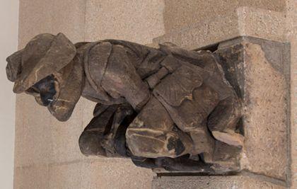 Münsterbauhütte, Freiburg Gargoyle: Hunter with monkey