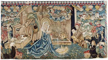 Oberrheinisch, Freiburg? Christmas tapestry (antependium)