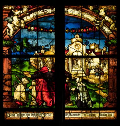 Freiburgisch Villinger Windows with St James the Greater and Donors
