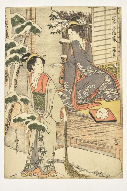 Utamaro Kitagawa Act II from the series »The Floating World and the Tale of the Loyal Retainers«