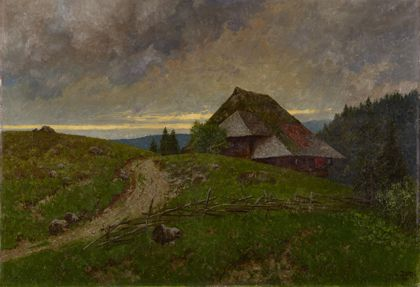 Ludwig Zorn Cloudy Weather in the Black Forest