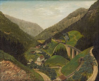 Georg Michael Zimmermann The Höllental Railway near the Ravenna Bridge