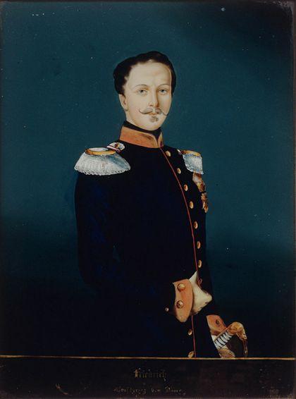 Hinterglasportrait von Großherzog Friedrich dem Ersten von Baden, nach einem Gemälde von Franz Xaver Winterhalder