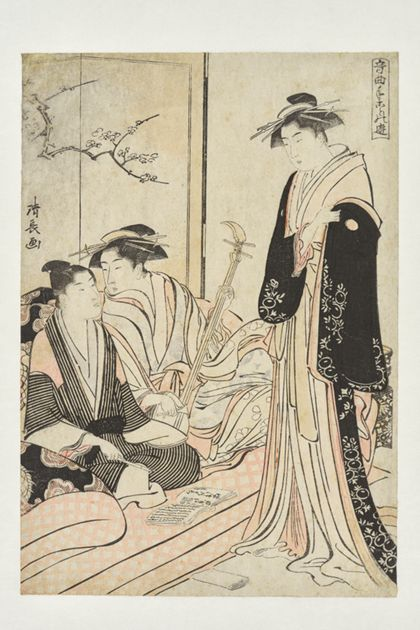Kiyonaga Torii A Jōruri Performance (Jōruri) from the series »Musical Pastimes«