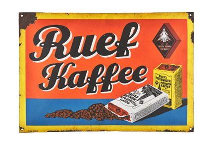 Enamel sign »Ruef-Kaffe«