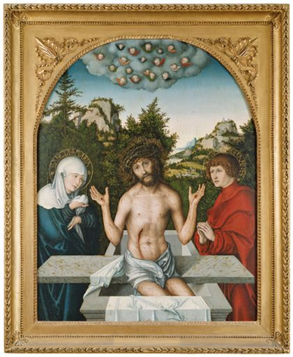 Lucas Cranach The Man of Sorrows between Mary and St John