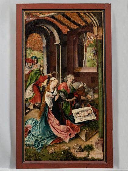 Umkreis Schongauer Martin Altar Wings: Nativity and Adoration of the Magi