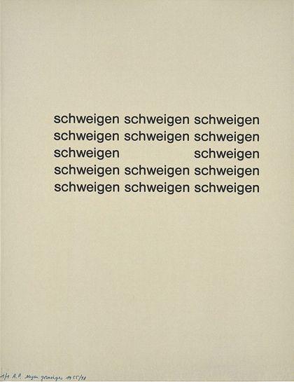 Gomringer, Eugen silence