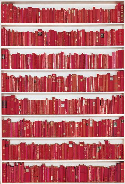 Michel Sauer Red Bookshelf