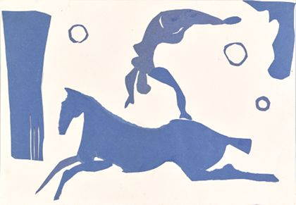 Priska von Martin Vaulting Rider (Blue Collage)