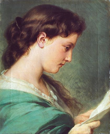 Franz Xaver Winterhalter Woman Reading a Letter
