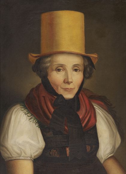 Johann Baptist Laule Portrait of Maria Kreuzer, née Laule, in Traditional Dress