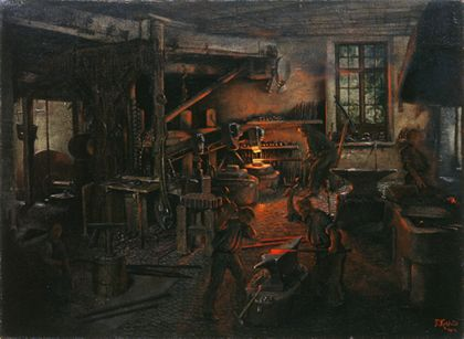 Fritz Kohlund The Fauler Hammer Mill in Falkensteig