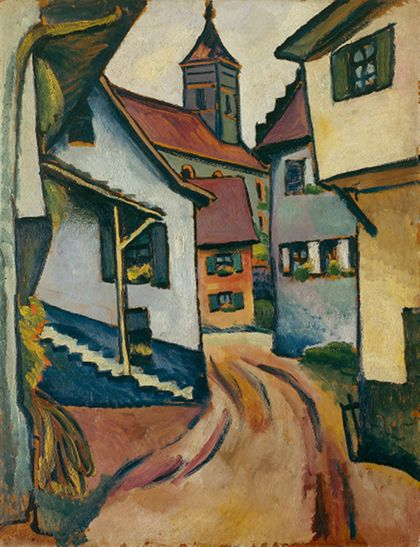 August Macke Street with Church in Kandern