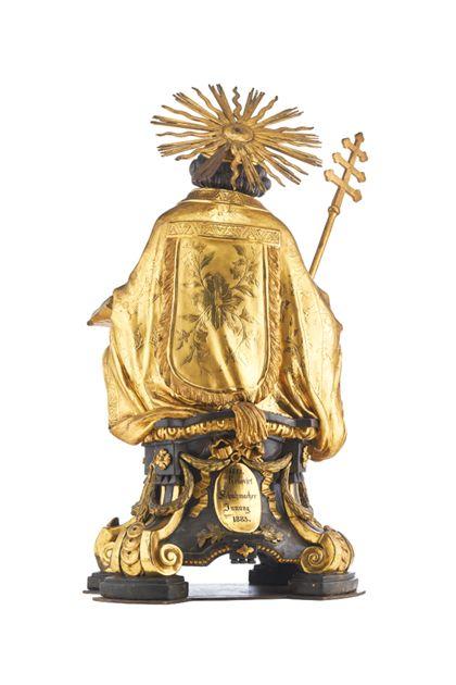 Büste des Heiligen Pius für die Freiburger Zunft der Schuhmacher, Rückseite.