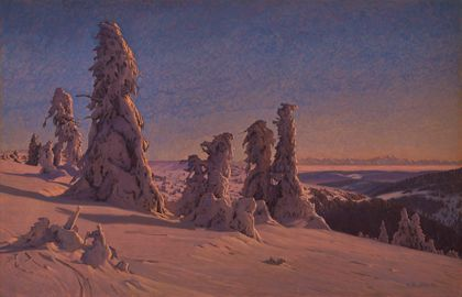 Hermann Dischler Frozen Fir Trees on the Feldberg