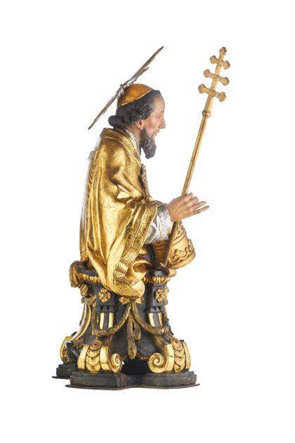 Büste des Heiligen Pius für die Freiburger Zunft der Schuhmacher, Seitenansicht von rechts.