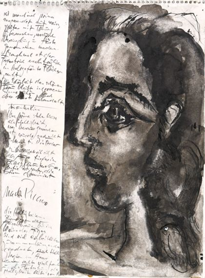 Priska von Martin Study of a Woman's Head after Picasso