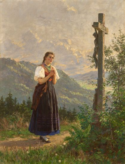 Wilhelm Gustav Friedrich Hasemann Magdalena Beneath the Cross