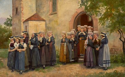 Heinrich Hoffmann Going to Church in the Black Forest