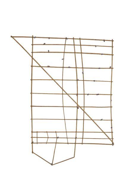 Seekarte aus zusammengebundenen Stäbchen, meist Palmblattrippen, an die an einigen Stellen Schneckengehäuse angebracht sind.