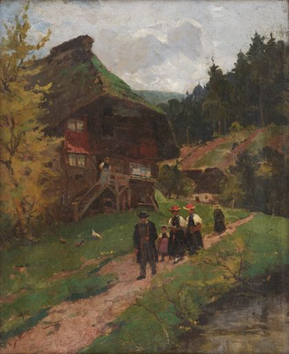 Vitus Staudacher Going to Church in Gutach