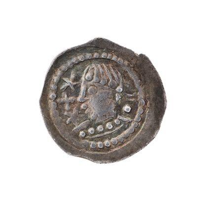 Münze mit antikisierendem Brustbild im Profil.
