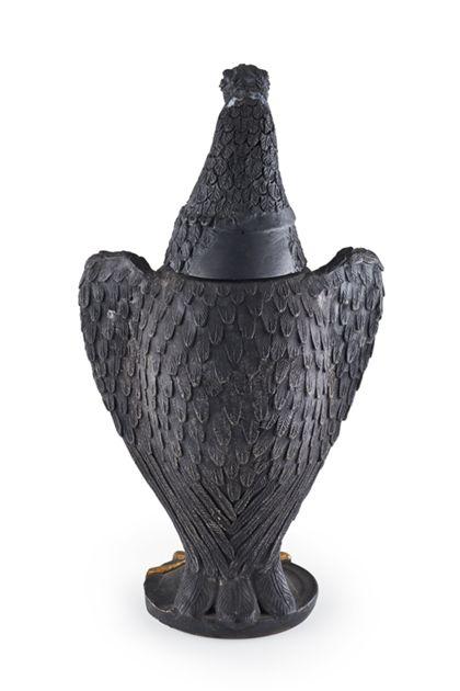 Trophy Clay eagle vessel with escutcheon