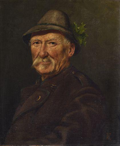 Ferdinand Keller Portrait of a Hunter