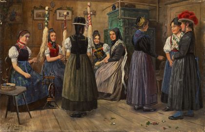 Heinrich Hoffmann Spinning Room in the Black Forest