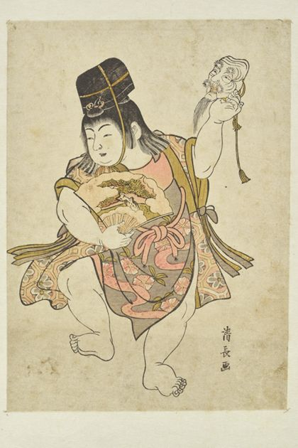Kiyonaga Torii Young Boy as a sambasō dancer
