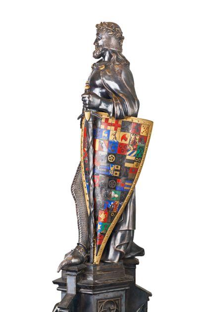 J. Knittel Knight's Table monument (wedding gift Friedrich / Luise)